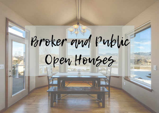 Broker and Public Open Houses